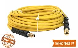 "Pressure Washer Parts 100 ft 3/8"" Yellow Non-Marking Hose 40"