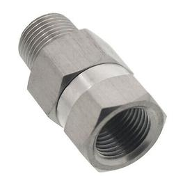"Erie Tools 3/8"" NPT Stainless Steel Swivel Coupler for Press"
