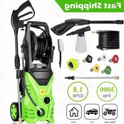 3000PSI 1.8GPM Electric Pressure Washer Home Power Cleaner M