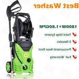 Homdox 3000PSI 1.8GPM Electric Pressure Washer W Hose Reel P