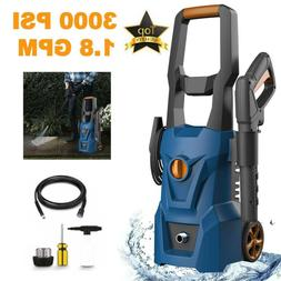 3000PSI 1.9GPM Electric Pressure Washer Water Cleaner Power