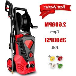 3500PSI 2.60GPM Electric Pressure Washer High Power Water Cl