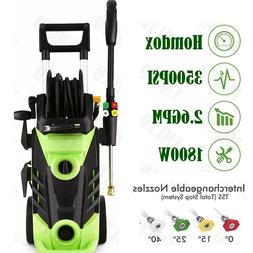 3500PSI 2.8GPM Electric Pressure Washer High Power Auto Jet