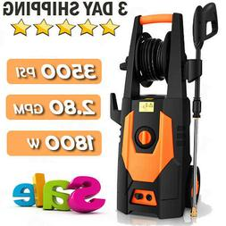 Homdox 3500PSI Electric Pressure Washer 2.8GPM 1800W Cold Wa