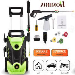 Homdox 3500PSI High Water Electric Pressure Washer 2.6GPM Cl