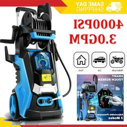 4000PSI 3.0GPM Electric Pressure Washer High Power Cleaner W