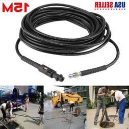 50Ft /15M High Pressure Washer Sewer Drain Cleaning Hose Pip