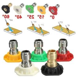 Power Pressure Washer Spray Nozzle 5 Pack Tip Set Variety De