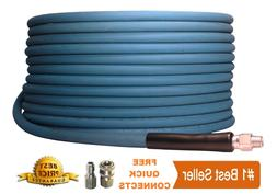 "Pressure Washer Parts 100 ft 3/8"" Blue Non-Marking 4000psi P"