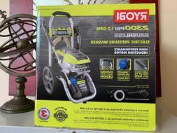 RYOBI Electric Pressure Washer 2,300 PSI Cord Lock Quick Con