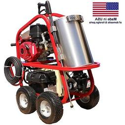 Gas Hot Water Pressure Washer - 4,000 PSI - 3.5 GPM - 13 HP