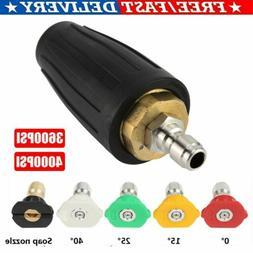 "High Pressure Washer Rotating Turbo Nozzle 3600/4000PSI 1/4"""