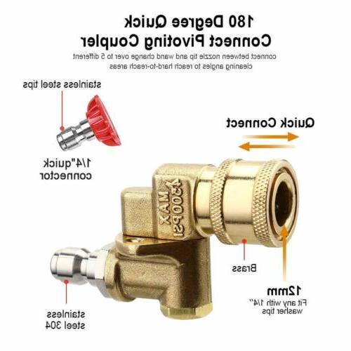 """1/4"""" Quick Power High Pressure Washer Nozzle Tip Gun Rod"""