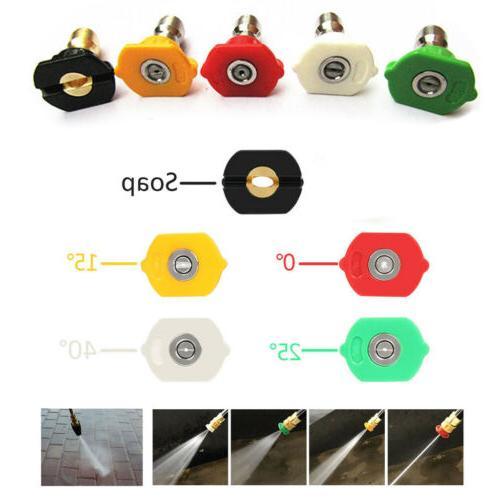 1-5PCS Pressure Washer Nozzle Connect Design 2.5-4.0