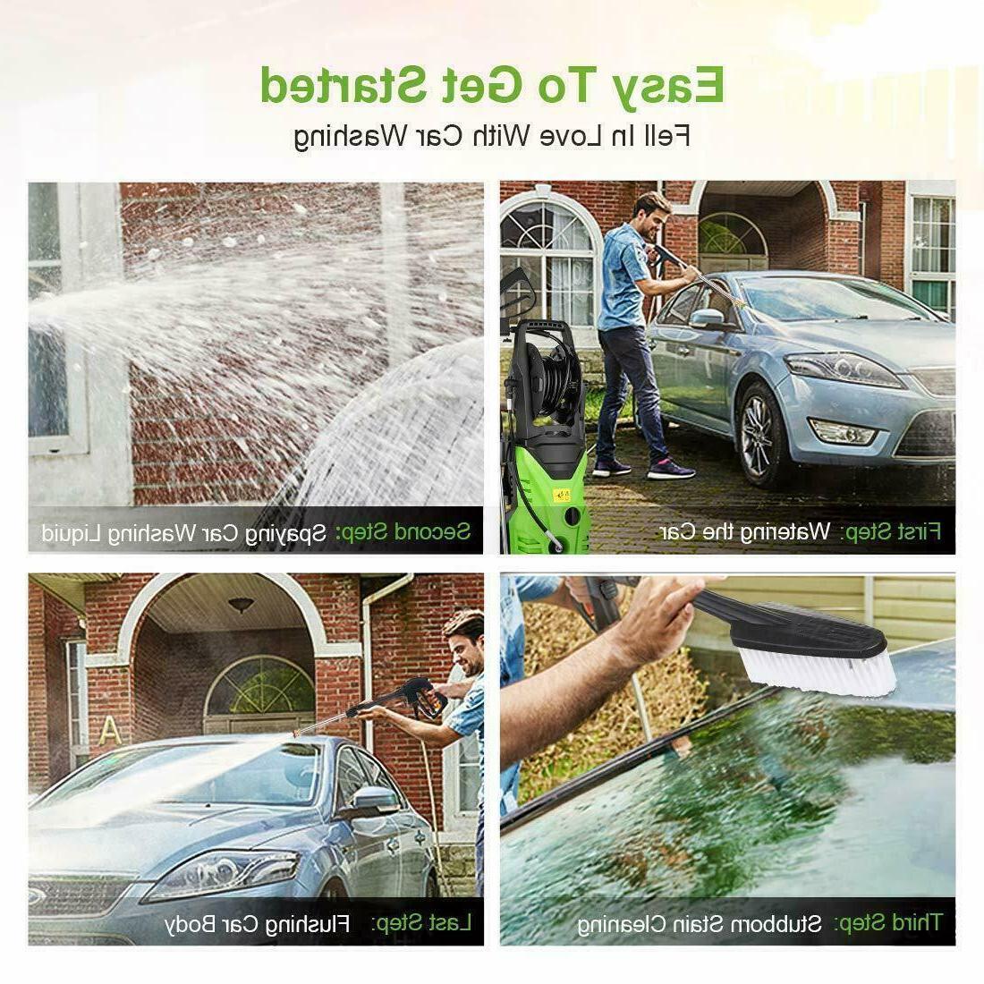 3000PSI Washer Home Machine Sprayer-Green