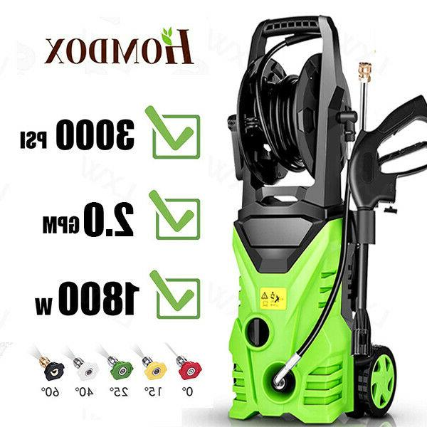 3000PSI 2.0GPM Washer Cold Water Cleaner Machine Green