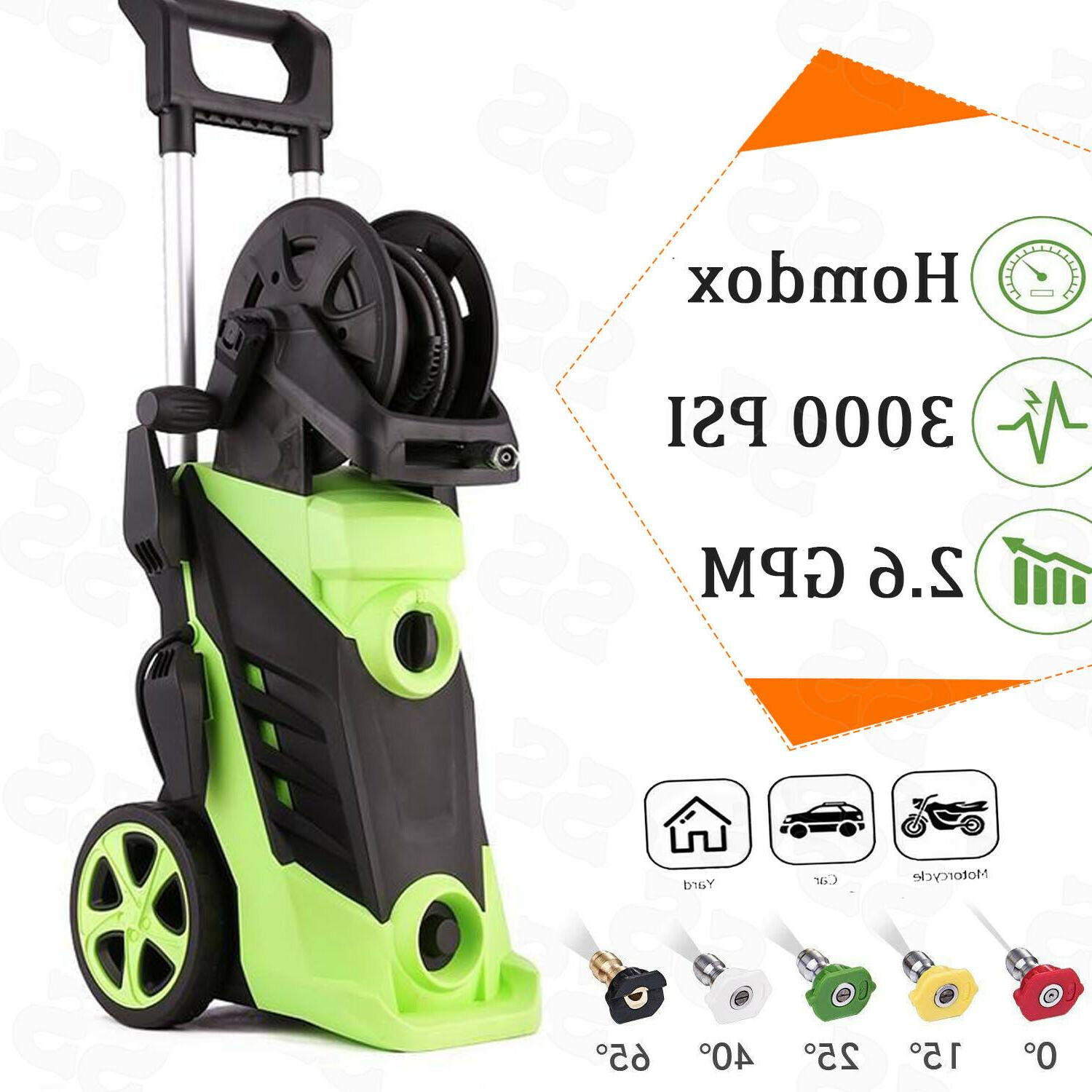Homdox 3950PSI 3.0GPM Electric Pressure Washer High Power Cl