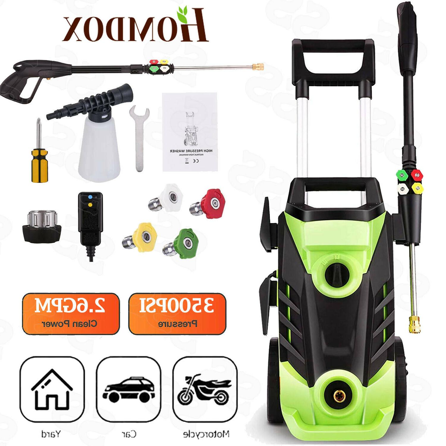 3500 psi electric pressure washer 1800w powered