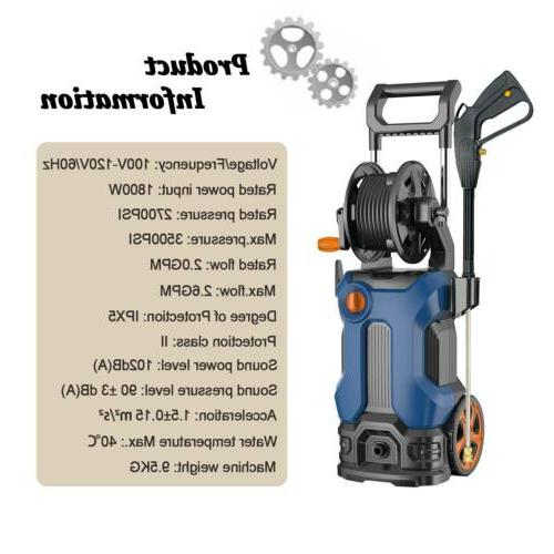 3500PSI 2.6GPM High Power Electric Water Cleaner Machine