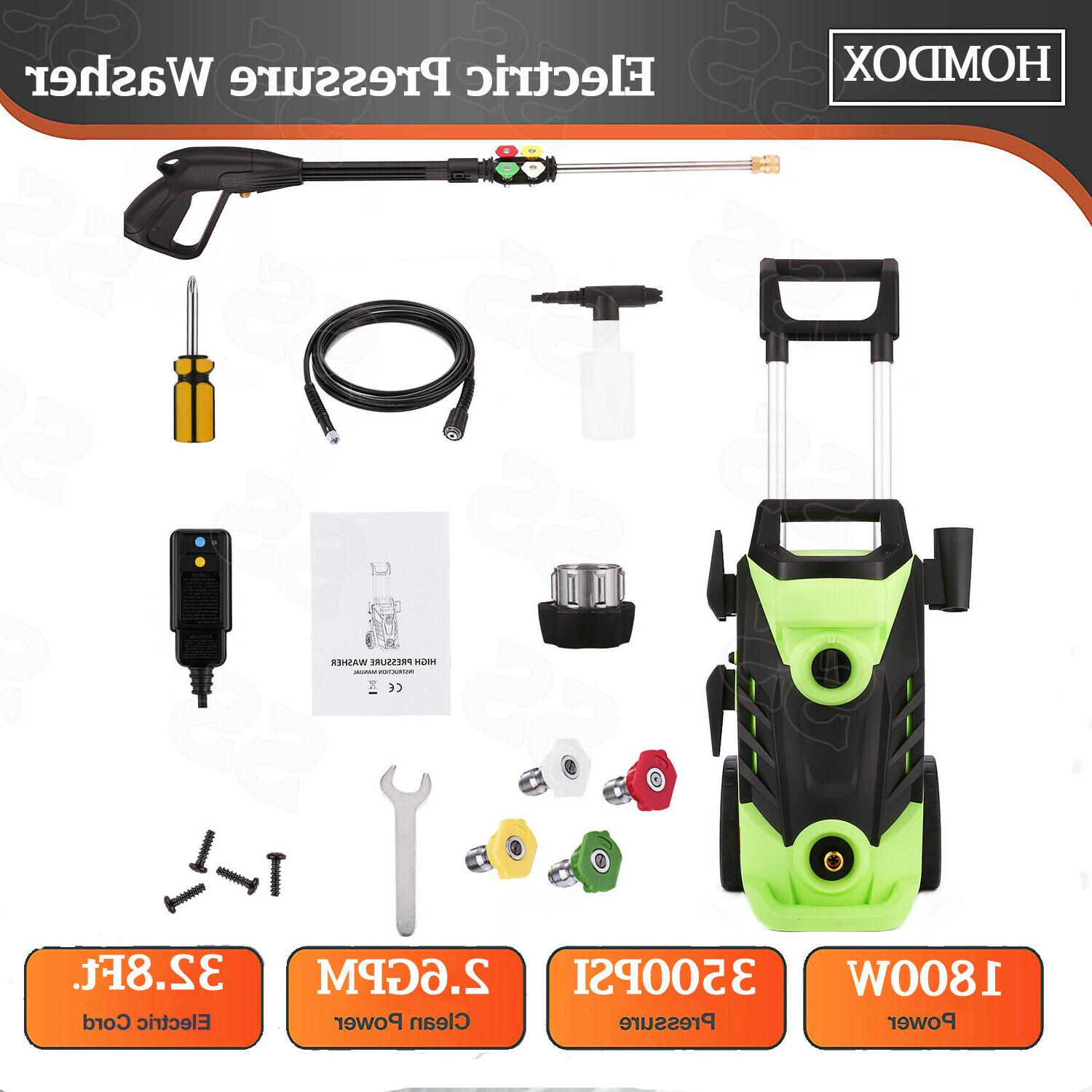 Homdox 3500PSI High Power Water Electric Pressure Washer 2.6