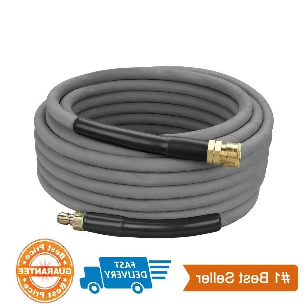"""Industrial Pressure Washer Hose 3//8/"""" x 50/' 4000 psi With Quick Connects"""