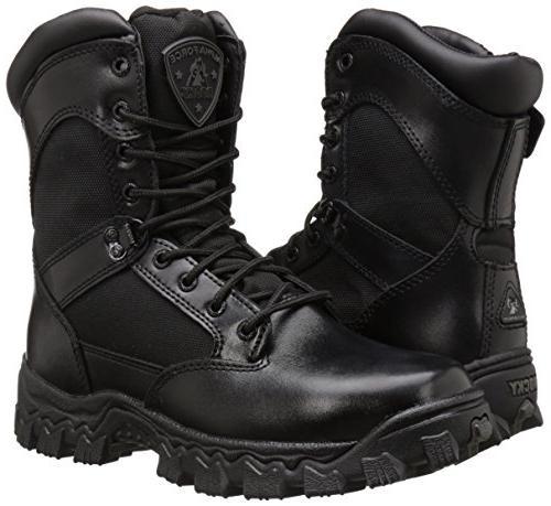 ROCKY Zipper Black Boots 8