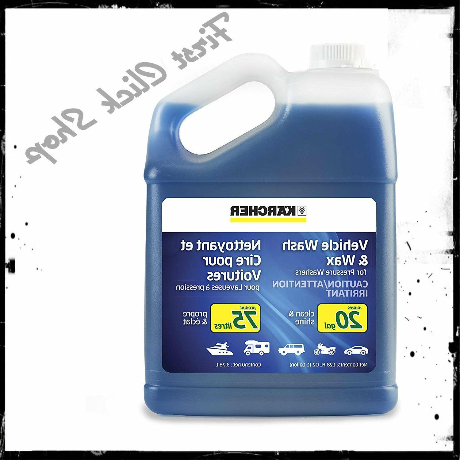 Car Wash & Wax Soap For Pressure Washers 1Gallon Vehicle Was