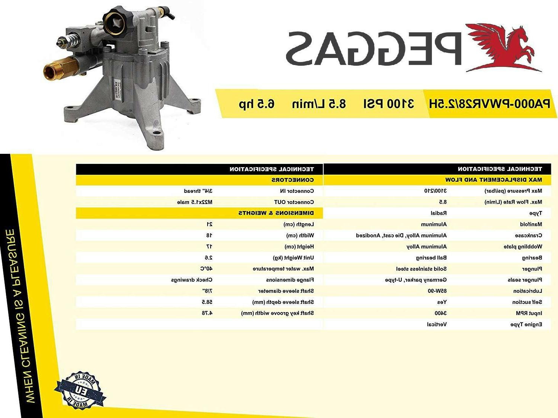 2800 PSI Aluminum Gasoline pump 2.5 GPM, RYOBI!