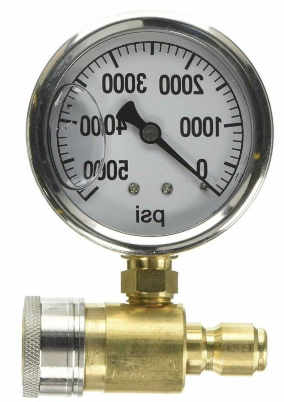 NorthStar Pressure Washer Pressure Gauge-5000 PSI 3/8in Fitt