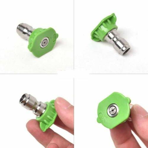 Pressure Washer Nozzle 5 Pack Set Variety Degrees US STOCK