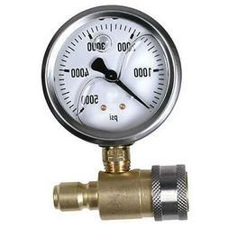 Northstar Pressure Washer Pressure Gauge - 5000 PSI, 3/8in.