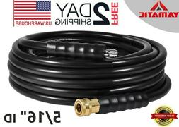 """YAMATIC 5/16"""" Pressure Washer Hose 4200 PSI 40 FT 3/8"""" Quick"""
