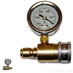 Pressure Washer Pressure Gauge Kit Quick Couples To Discharg