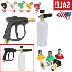 Snow Foam Cannon Bottle Lance For Pressure Washer Soap Spray